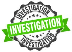 Investigation stamp. sign. seal Stock Illustration