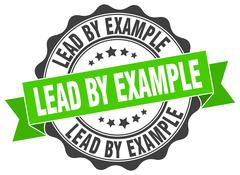 Lead by example stamp. sign. seal Stock Illustration