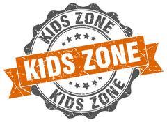 Kids zone stamp. sign. seal Stock Illustration