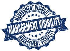 Management visibility stamp. sign. seal Stock Illustration