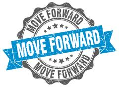 Move forward stamp. sign. seal Stock Illustration