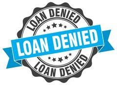 Loan denied stamp. sign. seal Stock Illustration