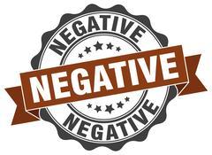 Negative stamp. sign. seal Stock Illustration