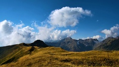 Timelapse of autumn mountains with clouds Stock Footage