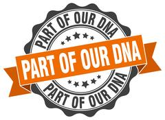 Part of our dna stamp. sign. seal Stock Illustration