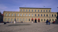 KONIGSBAU RESIDENZ NATIONAL MUNICH GERMANY Stock Footage