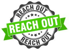 Reach out stamp. sign. seal Stock Illustration
