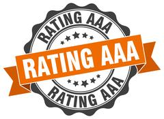 Rating aaa stamp. sign. seal Stock Illustration