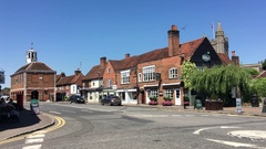 Amersham Old Town, Amersham, Buckinghamshire, UK Stock Footage