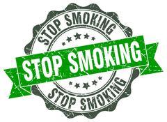 Stop smoking stamp. sign. seal Stock Illustration