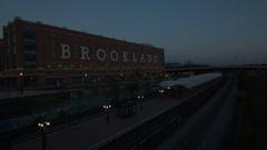 Brookland Metro Station Sunrise Stock Footage