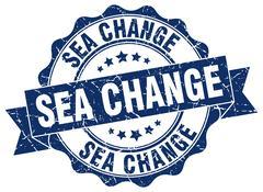 Sea change stamp. sign. seal Stock Illustration