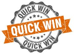 Quick win stamp. sign. seal Stock Illustration