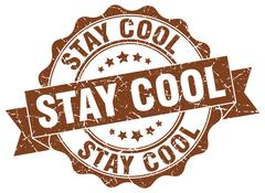 Stay cool stamp. sign. seal Stock Illustration