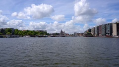 City Amsterdam, The Netherlands. Stock Footage