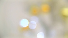Back background with bokeh lights in defocus. Stock Footage