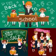 Back to school and children education concept vector background Stock Illustration