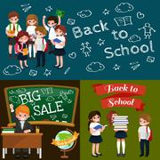 Back to school and children education concept vector background Piirros