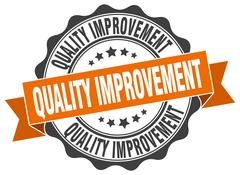 Quality improvement stamp. sign. seal Stock Illustration