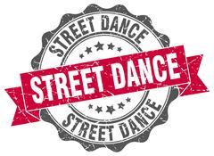 Street dance stamp. sign. seal Stock Illustration