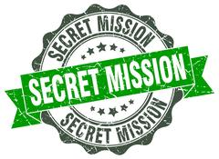 Secret mission stamp. sign. seal Stock Illustration