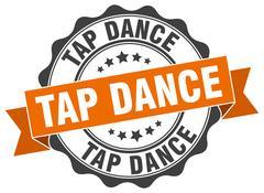 Tap dance stamp. sign. seal Stock Illustration
