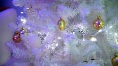 Illuminations on Christmas tree. Stock Footage