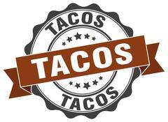 Tacos stamp. sign. seal Stock Illustration