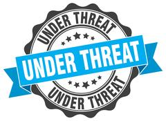 Under threat stamp. sign. seal Stock Illustration