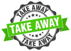 Take away stamp. sign. seal Stock Illustration