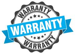 Warranty stamp. sign. seal Stock Illustration