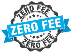Zero fee stamp. sign. seal Stock Illustration