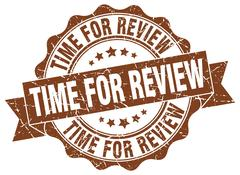 Time for review stamp. sign. seal Stock Illustration