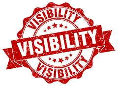 Visibility stamp. sign. seal Stock Illustration