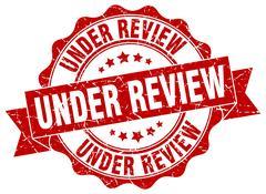 Under review stamp. sign. seal Stock Illustration