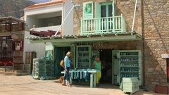 THE GREEN SHOP PLAKA CRETE GREECE Stock Footage