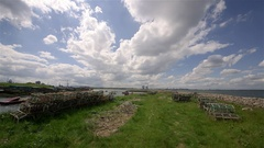 PADDY'S HOLE HARBOUR TEESPORT SOUTH GARE REDCAR Stock Footage