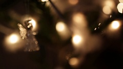 Christmas lights glowing background Stock Footage