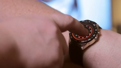Features installed in smart watches Stock Footage