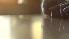 Coin Spinning on the Table Stock Footage
