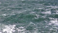 Storm on the sea seething water. Portugal. Stock Footage