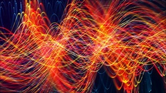 HD Loopable Background with abstract glowing line Stock Footage