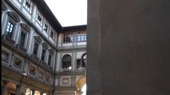 Florence, Uffizi Gallery Stock Footage
