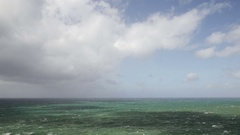 Strong wind on the ocean. Clouds move. Stock Footage