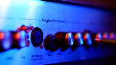 Man connects the jack to the amp Stock Footage