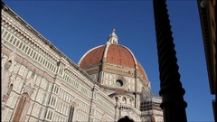 Florence, dome of Brunelleschi Stock Footage