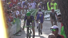 Niki Terpstra in super slow motion Stock Footage