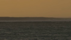 Crashing ocean waves, view in the evening Stock Footage