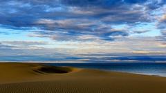 Sunrise on the salted Lake Durgun Nuur, Mongolia. Full HD Stock Footage