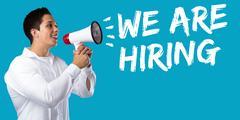 We are hiring jobs, job working recruitment employment business concept you.. Stock Photos